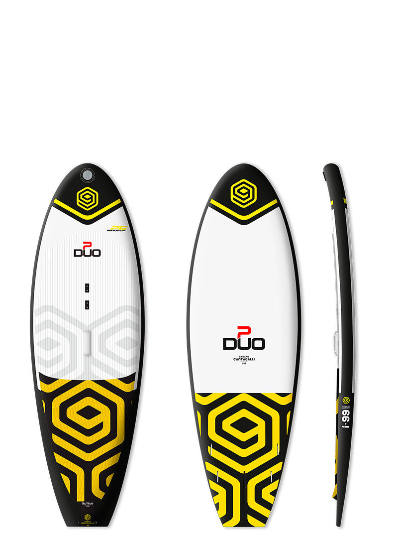 Inflatable Hardtail Windsup board and Stand up paddle - Duo