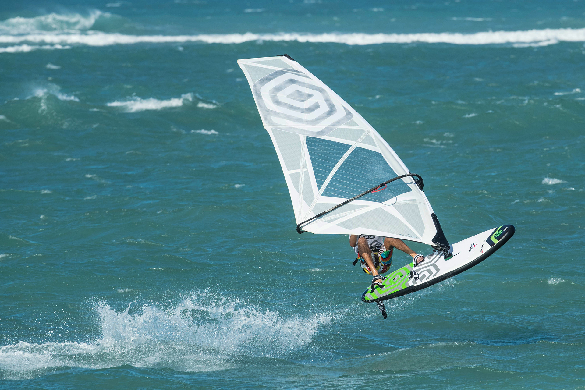 DUO Wind - Windsurf inflatable board with hardtail